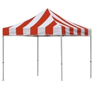 10'x10′ Red & White Carnival Tent