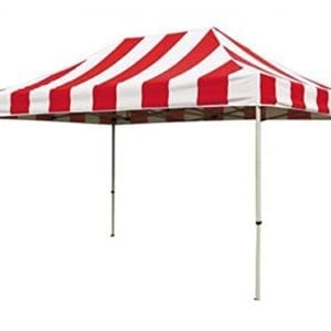10'x15′ Red & White Carnival Tent