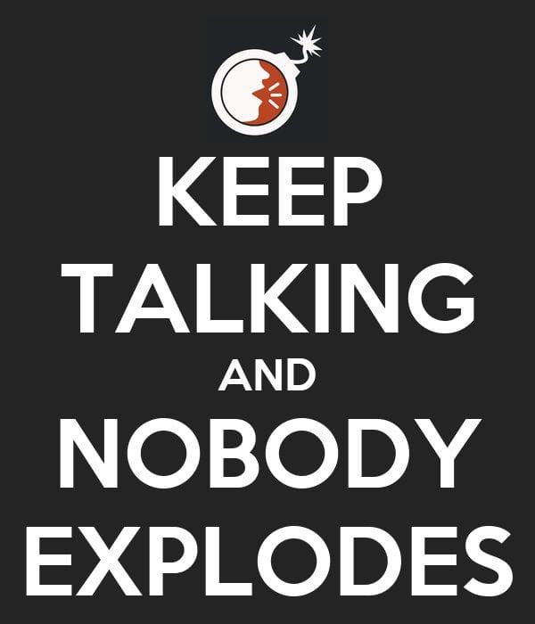 keep talking and nobody