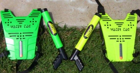 watertag vests guns