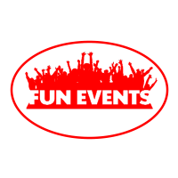 Fun Events- Round Clear Background Brighter Red